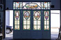 Stained glass doors Art Deco Belgium glass 1920