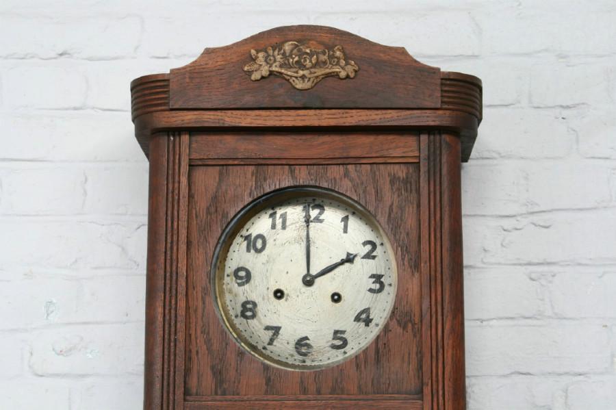 Art Deco Wall Clock Clocks Belgium Antique Exporters