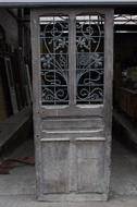 Front door Art nouveau France oak/iron 1900