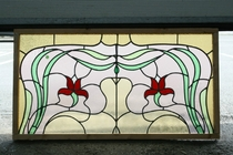 Stained glass window Art nouveau France glass 1920