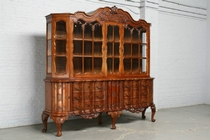 Vitrine Chippendale France Walnut 1900