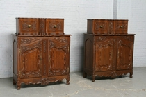 Painetiere cabinets Country French France Oak 1900