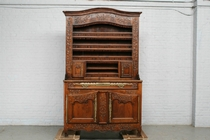 Vaisselier cabinet Country French France Oak 1890