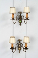 Wall sconces Flemish Belgium Brass 1920