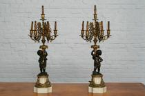 Table lamps Louis XIV France Bronze 1890