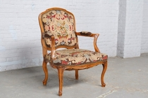 Armchair Louis XV Belgium Walnut 1920