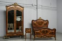 Bedroom set Louis XV France Walnut 1880