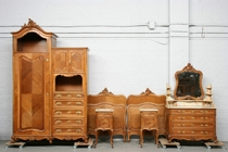 Bedroom set Louis XV France Walnut 1900