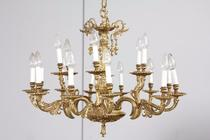 Chandelier Louis XV France Bronze 1940