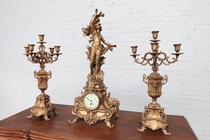 Louis XV Clock set