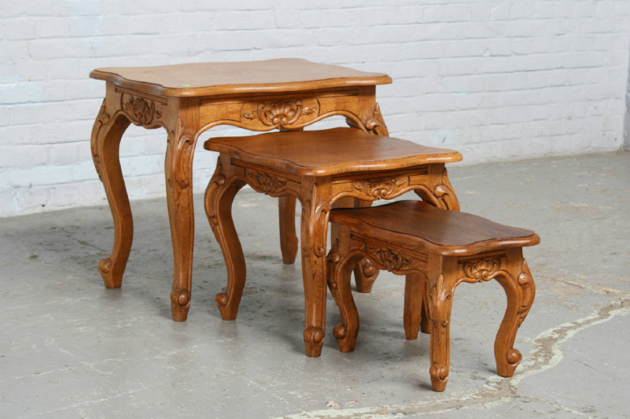 Louis xv nest of tables small furniture belgium for Small nest of tables