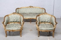 Sofa set Louis XV France Wood 1900