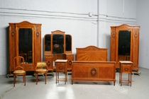 Bedroom set Louis XVI Belgium Satin wood 1920