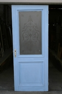 Etched glass door Louis XVI Belgium glass 1920