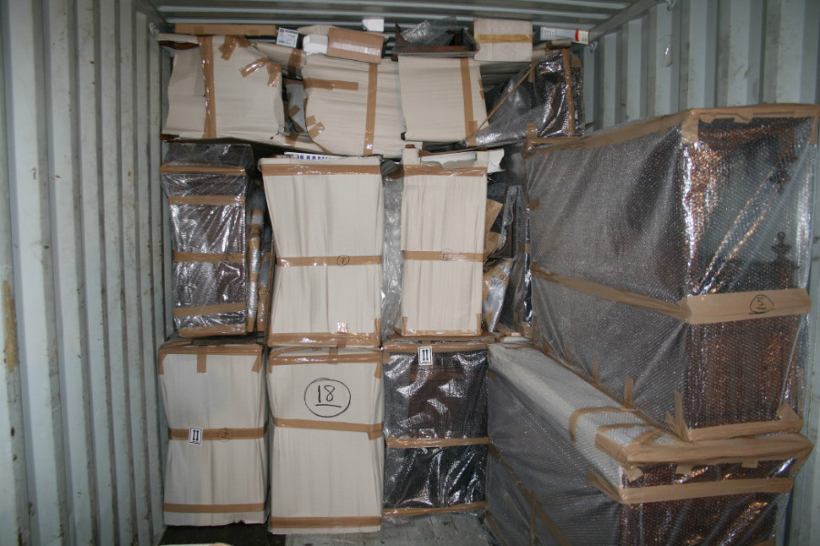 Packing of container