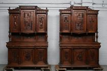 Buffets Renaissance France Walnut 1890