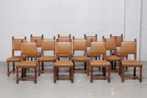 Chairs Renaissance Belgium oak 1900