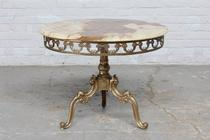 Side table Rococo Italy Bronze/Onyx 1950